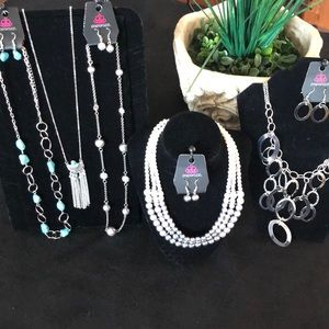 5 sets of necklaces and earrings